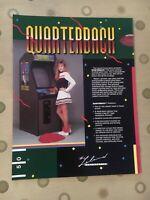Leland Quarterback Video Arcade Game Flyer, 1987 NOS