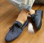 New Men's Canvas Casual Slip On Loafer Driving Moccasins Breathability Shoes Q05