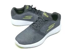 Skechers Go Run 600 Control Athletic Shoes Mens Size 8 Charcoal/Lime NEW