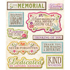 K&COMPANY STICKER MEDLEY MEMORIAL IN MEMORY REMEMBER FAMILY SCRAPBOOK STICKERS
