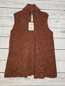 Nubby rust sweater with folding collar