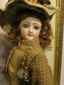F.G. POUPEE IN ORIGINAL COSTUME 18 IN. TALL , Marked 3 ~ OUTSTAND FRENCH DOLL !