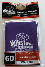 Yugioh Monster Protector PURPLE LOGO Glossy Non-Textured Deck Protectors/Sleeves