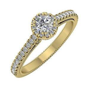 Solitaire Anniversary Ring SI1 G 1.15 Ct Round Diamond 14K Yellow Gold 7.00MM
