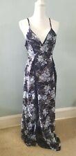 NIKIBIKI Women's Blue Long Maxi Dress Size M with lace