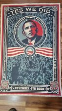 Shepard Fairey - Barack Obama Yes We Did 2008 poster SIGNED & NUMBERED #469/5000
