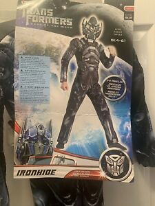 Transformers IRONHIDE Muscle Costume size 4-6 Small New Dark of the Moon w/ Mask