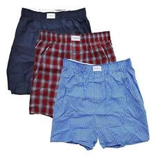 4ff3781262abfd Tommy Hilfiger Mens 3-Pack Cotton Woven Boxer Underwear Navy/Blue/Red