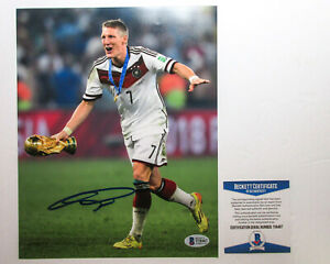 Bastian Schweinsteiger Signed 2014 World Cup 8x10 Photo PROOF BAS A Bayern