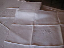 Ensemble linge de table   Nappe + 12 serviettes de table avec Monogramme D S