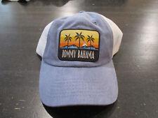 NEW Tommy Bahama Strap Back Hat Cap Blue White Trucker Mesh Relax Mens