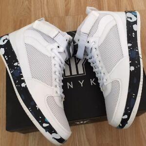 Men White Command Zero Max Basketball Retro Sport Shock Trainer Boot Shoe Size