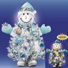 Snow Place Like Home Snow Man Tree Thomas Kinkade Figurine Bradford Exchange