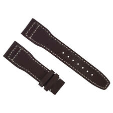 21MM LEATHER STRAP WATCH BAND DEPLOYMENT CLASP FOR IWC PILOT PORTUGUESE BROWN WS
