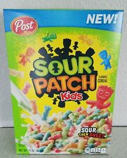 Post Sour Patch Kids Breakfast Cereal Sour Then Sweet 18oz  Limited Edition