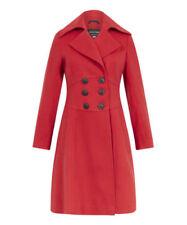 Cappotti e giacche da donna rossi in lana taglia 46