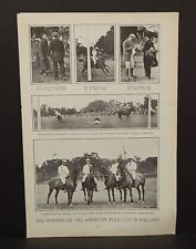 Harper's Weekly 1Pg The Winning of the American Polo Cup in England  c1890 B6#81