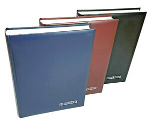 Deluxe Stock book with 60 White pages - luxury padded cover From £18.95