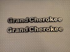 1994 - 1996 Jeep Grand Cherokee Fender Emblem Chrome Nameplate Logo Lot of 2