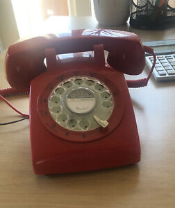 Reproduction Vintage red telephone by Steepletone 1960s Style