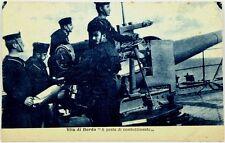"""Cartolina Marina - Vita Di Bordo """"A Posto Di Combattimento"""" - Non Viaggiata"""