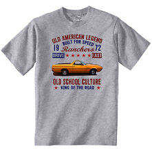 VINTAGE AMERICAN CAR FORD RANCHERO - NEW COTTON T-SHIRT