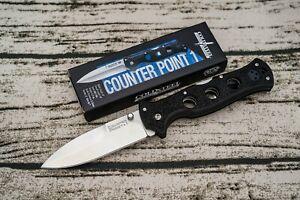 Cold Steel Counter Point 1, AUS 10A, Black Griv-Ex, #10AB