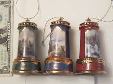 Thomas Kinkade light-up Lighthouse ornaments