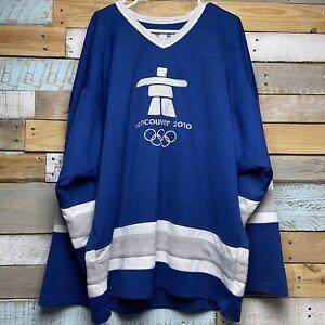 Vintage Vancouver Canada Paralympic 2010 Hockey Sport Jersey Adult Sz XL-2XL/XXL