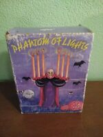 Vintage Russ Berrie Ceramic Phantom Of Lights Candelabra Halloween Candle Holder
