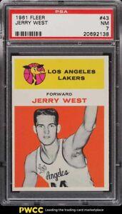 1961 Fleer Basketball Jerry West ROOKIE RC #43 PSA 7 NRMT