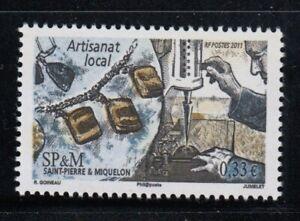 ST. PIERRE & MIQUELON Local Artisan Crafts MNH stamp