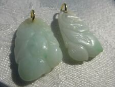2 Carved CHINESE JADE PENDANTS Gorgeous detail