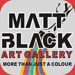 Matt Black Abstract Canvas Painting