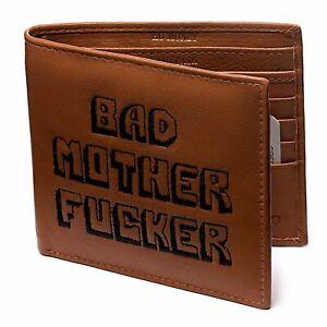 BAD MOTHER FU*KER Real Leather Wallet, Embroidered - Bad Wallets ® Licensed