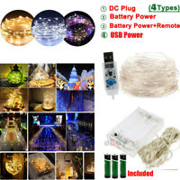 100LED Copper Wire String Strip Fairy Light Christmas Xmas Tree Party Decor Lamp