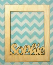 Personalized wood NAME FRAME with ANY NAME 8 X 10 size CUSTOM GIFT