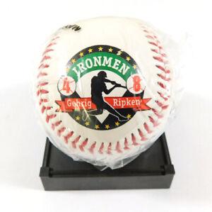 Cal Ripken Jr. and Lou Gehrig Commemorative Signed Baseball 2130 games