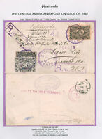Guatemala #60//#65 6c Arms/President w/1c/18c on cover (1/28/1897) to Mexico
