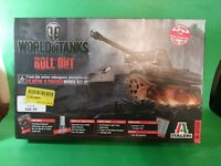 """Italeri 1/35 Scale World-Of-Tanks """"Roll Out"""" PZ.KPFW.V Panther Model Tank Kit"""