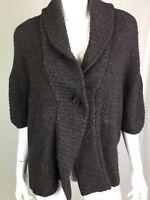 $225 BCBG Maxazria Women's XS Small Brown Speckled Wool Knit Cardigan Sweater