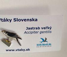 Rspb Hawk Slovakia Birding Enamel Pin badge