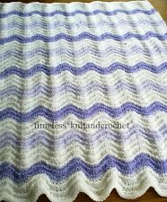 KNITTING PATTERN FOR BABY'S CHEVRON PATTERN COT / BLANKET / COVER / SHAWL - EASY