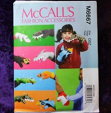 McCall's Crafts M6808 Make Mittens Hand Puppets Fashion Accessories Pattern New