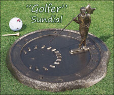 Whitehall Golfer Sundial Rust-Proof Aluminum - 3 Color Choices - Holiday Special