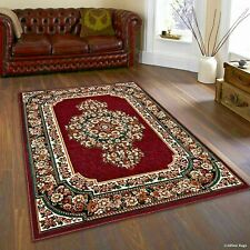 Rugs Area Rugs Carpets 8x10 Rug Oriental Floral Large Floor Cool Red 5x7 Rugs ~