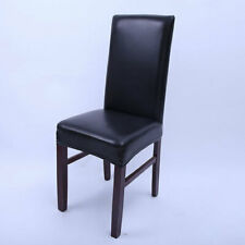 Slipcovers PU Leather Elastic Chair Cover Dining Stretch Chair Cover for Wedding
