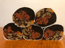 """New Old Stock Lot Five 4"""" Pre Cut Latch Hook Yarn Multicolor Fall Colors"""