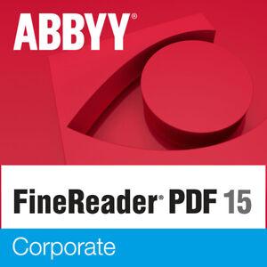 ABBYY FINEREADER PDF 15 CORPORATE - WINDOWS