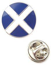 Scotland Round Saltire Enamel Lapel Pin Badge T1049